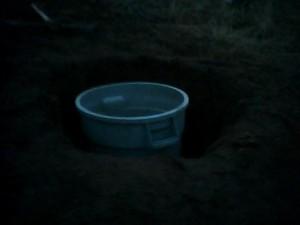 The hole she is dug
