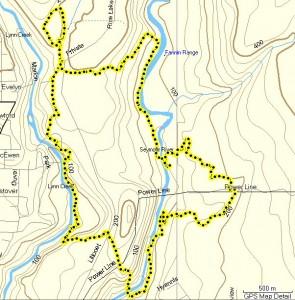 Phantom 12K trail race route