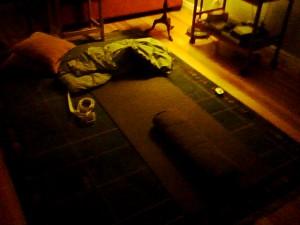 Late-night yoga props
