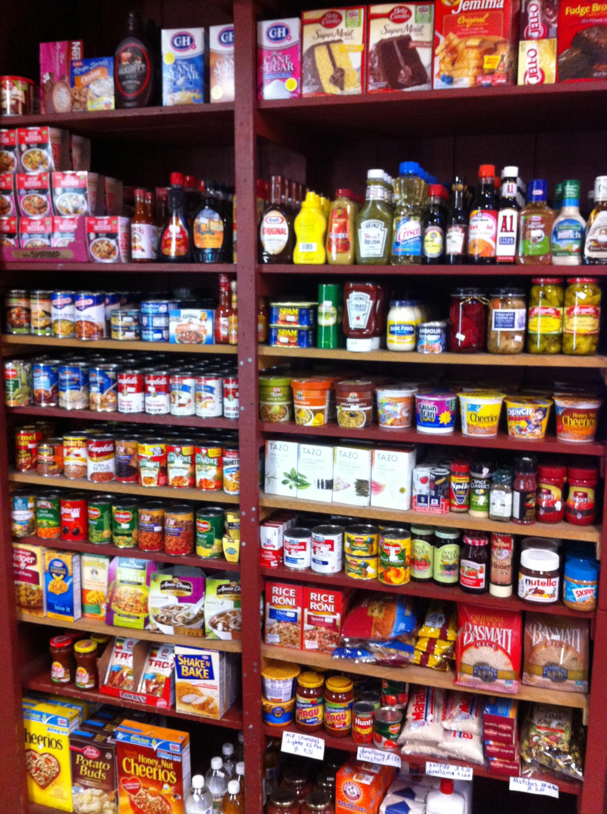 Groceries in Big Sur