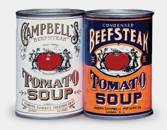 Original soup label design